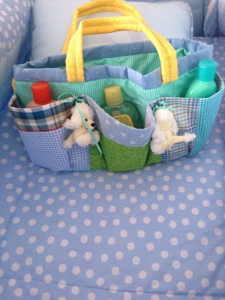 porta cosmeticos para bebe elaborada con retazos. fue mi regalo para Emilio!!!