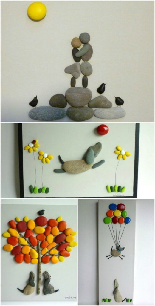 Cool DIY Idea: Painting out of River Pebbles   Home Design, Garden & Architecture Blog Magazine