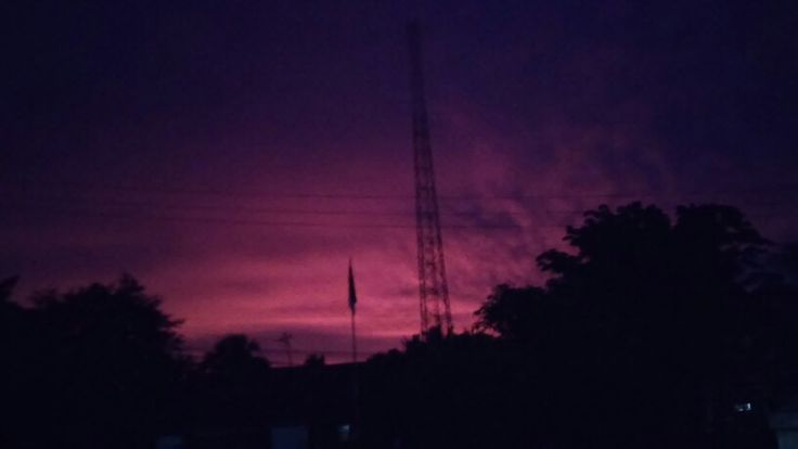 Red purple sky at Kefamenanu NTT, Indonesia