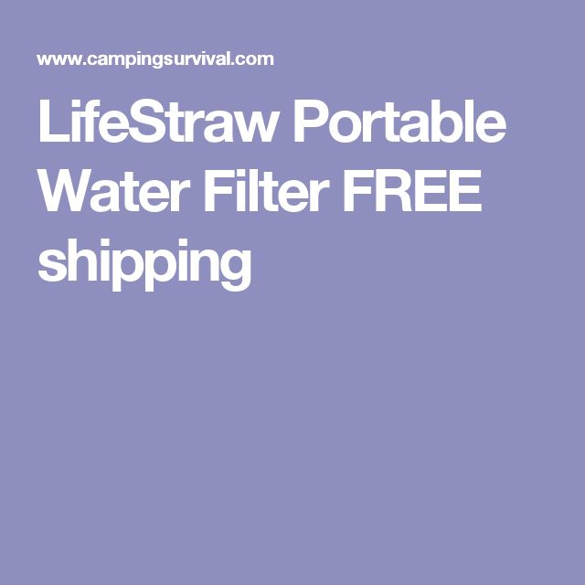 LifeStraw Portable Water Filter FREE shipping