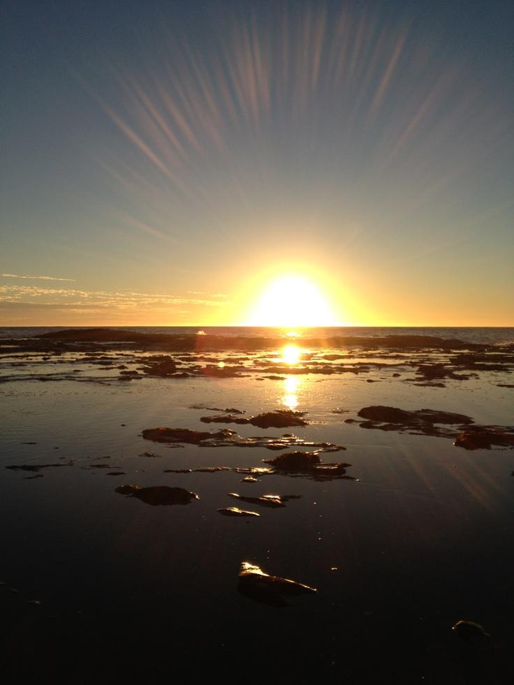 Beautiful sunrise over Werri Beach, New South Wales, Australia