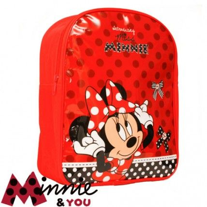 Sac à dos Minnie rouge