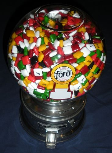 Ford Penny Chiclet Gum Machine Glass Globe