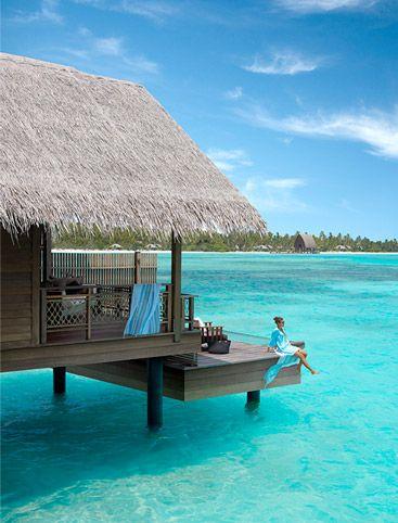 Shangri-La's Villingili Resort and Spa, Maldive. Water Villa #vacation #holiday