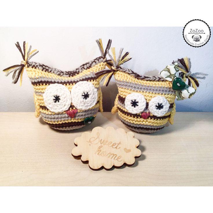 Cute couple☺️ #crochet #owls #owl # handmade