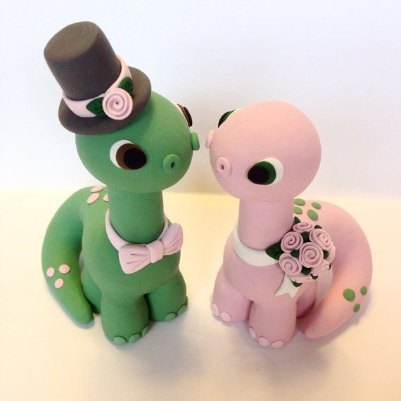 Dinosaur Wedding Cake Topper Choose your colors by topofthecake, $55.00