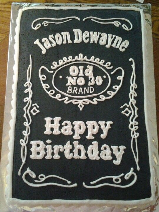 Jack Daniels Themed Cake Cakes Amp Muffins 21st Birthday