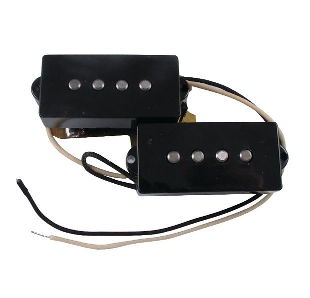 """Fender Pickup - Fender®, Precision Bass, Set of 2  Alnico 5 magnets, enamel-coated magnet wire.Precision Bass, Set of 2.The bass pickup that invented """"funk"""" is still virtually unchanged today with the Original Precision Bass pickup. Made with Alnico 5 magnets, enamel-coated magnet wire, and a copper shield.DC Resistance: 10.5kInductance: 6.4 H"""