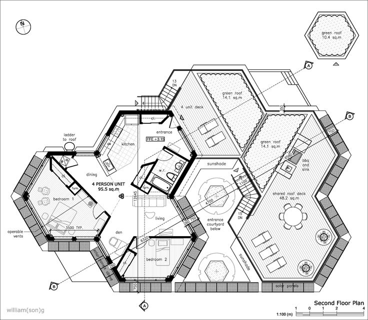hexagon house plans willian son g buscar con google