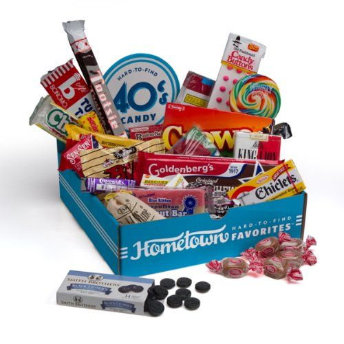 Hometown Favorites 1940`s Nostalgic Candy Gift Box, Retro 40`s Candy $29.74 #topseller