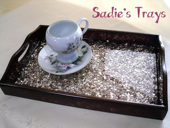 gold decorative serving tray by beautifulandsassy on etsy 2800 - Decorative Serving Trays