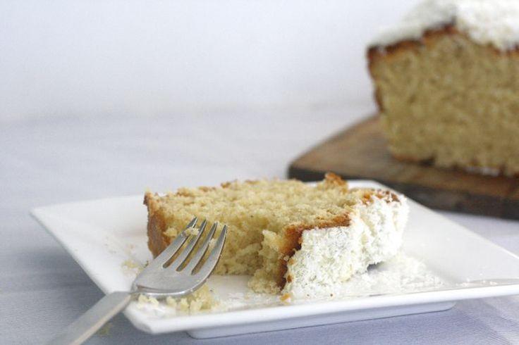 Kokos witte chocolade cake