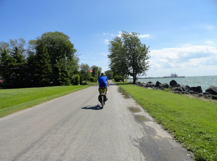 Cycling around Pelee Island, Ontario, Canada.