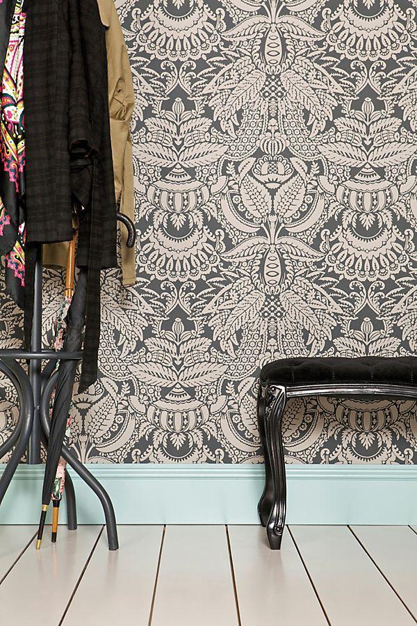 Farrow & Ball Orangerie Wallpaper in 2020 Bedroom wall