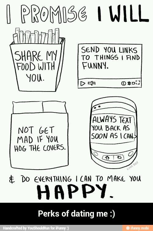 perks of dating me jokes and funny
