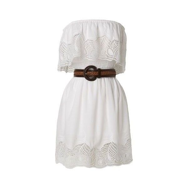 white country dress ❤ liked on Polyvore featuring dresses, vestidos, white day dress and white dress