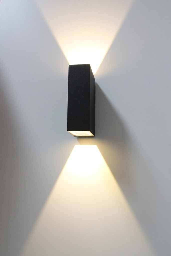 Block Up Down Exterior Wall Light In 2020 Exterior Wall Light