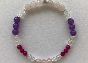 Handgemachter Schmuck aus echten Edelsteinen, Halbedelsteinen und 925 Silber. Armbänder, Edelsteinarmbänder, Perlenarmbänder, Lederarmbänder