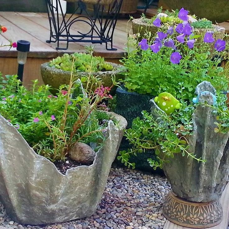 My Draped Hypertufa Planters, Draping Fabric With a Cement Mixture