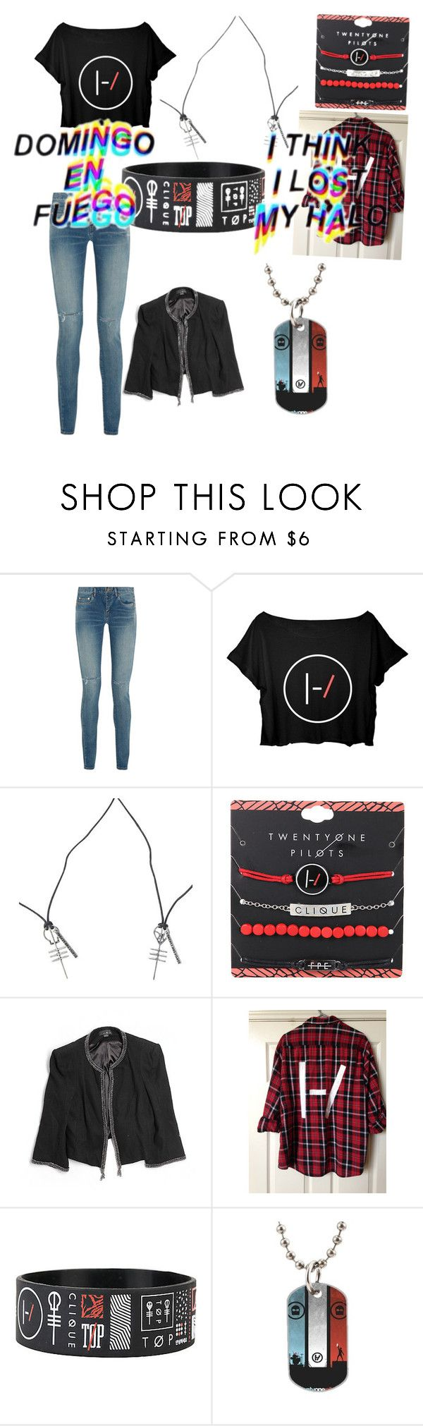 """TWENTY ONE PILOTS"" by a-ms-winchester ❤ liked on Polyvore featuring Yves Saint Laurent"