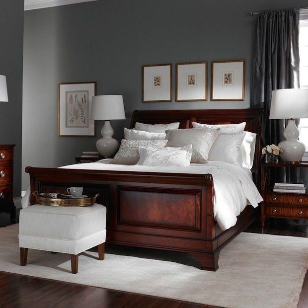 Серые спальни, фото