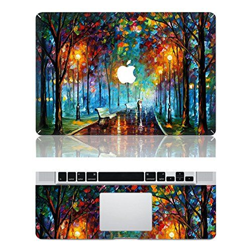 "Vati Leaves Removable Love in the Rain Protective Full Cover Vinyl Art Skin Decal Sticker Cover for Apple MacBook Air 13.3"" inch (A1369/A1466)"