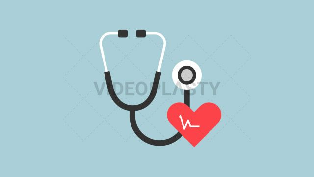 An icon of a black medical stethoscope with a red heart on it designed in flat design style. Three version are included:in/out loop andin (can be extended with the loop version) Clip Length:10 seconds Loopable: Yes Alpha Channel: Yes Resolution:FullHD Format: Quicktime MOV