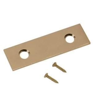 Everbilt 2 in. Satin Brass Mending Plate (4-Pack) 13508 at The Home Depot - Mobile