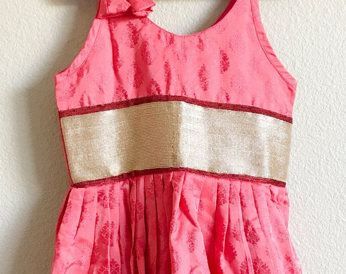Hecho a mano real rosa de Coral de seda vestido de Lehenga