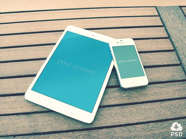 4 iPhone & iPad PSD mockups