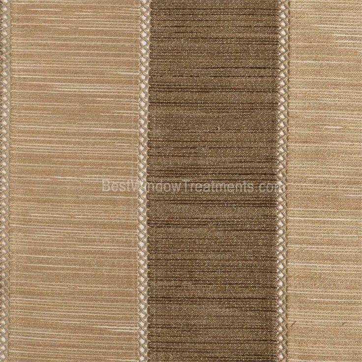 Tandora Stripe Drapery Curtain Panel In Wheat Bark Brown