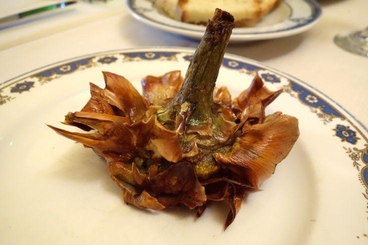 fried artichoke at ragno do'ro