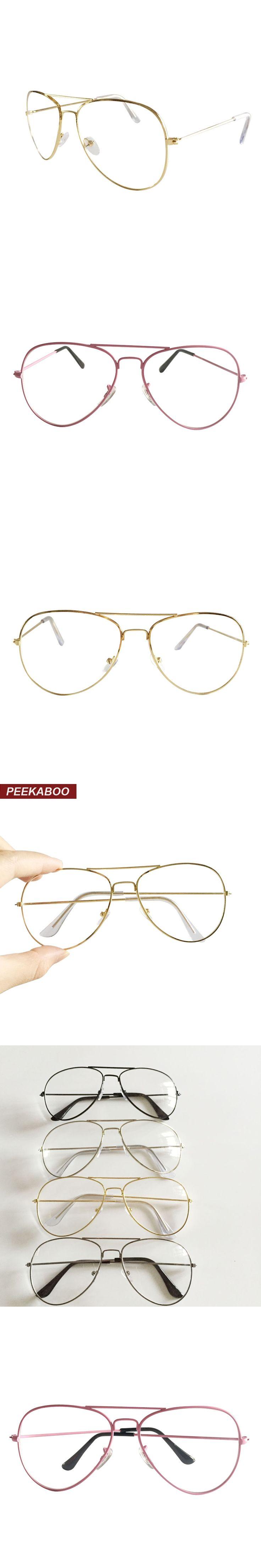 peekaboo new gold rimmed glasses frame men brand flat top metal alloy discount cheap eyeglass frames - Discount Eyeglasses Frames