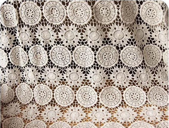 ivory Cotton Lace Fabric