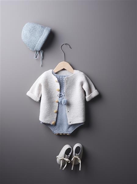 1508: Design 2 og 3 Rillejakke/lue og romper #strikk #knit #merino