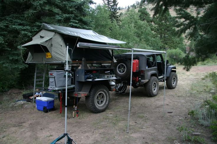 Brilliant Jeep Tent Trailer Camping  Car Interior Design