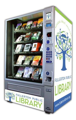 Reinventando la lectura. Máquina de libros en la Biblioteca Pública Fullerton del sur de California