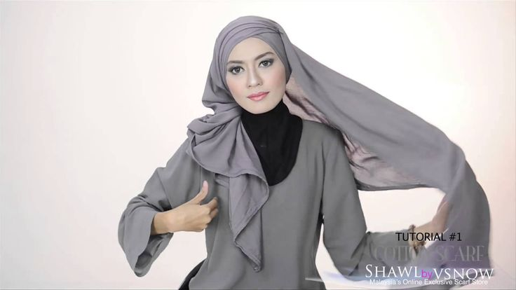 Shawlbyvsnow : Hijab Tutorial with VS Cotton Scarf ( 2 style )