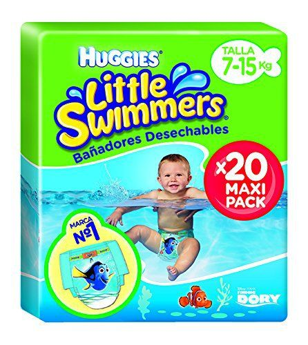 Huggies – 2900251- Little Swimmers Maxi Pack – Taille 3/4 – 7-15 kg x 20 Couches: Maxi pack de 20 couches de bain Little Swimmers – Taille…