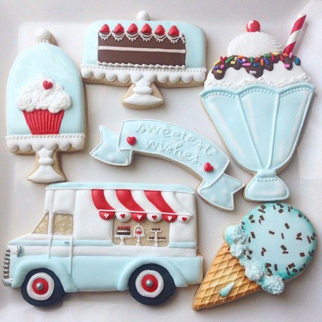 Galletas decoradas diseño pastelería