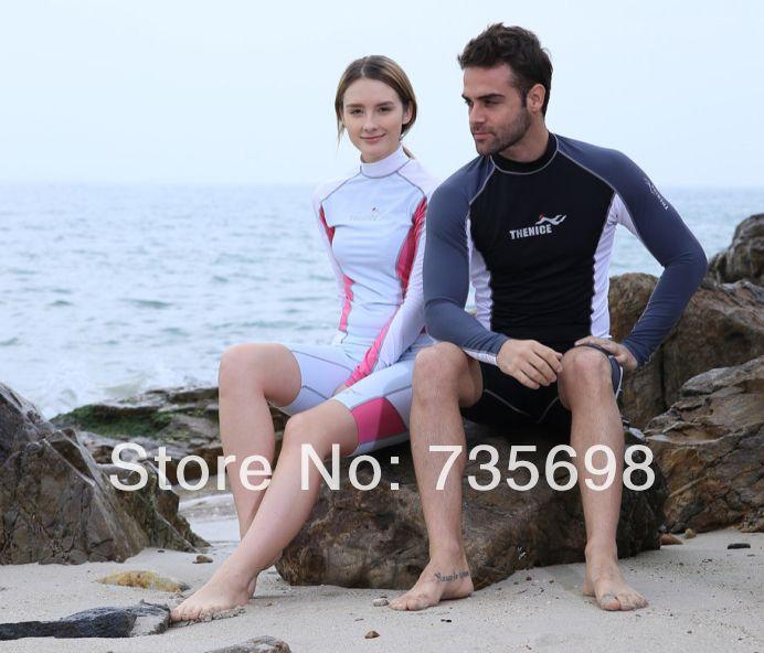 Его - и его-и-ее upf 50 + спортивный топ влюбленных гидрокостюм для дайвинг купальный костюм мужчины и женщины rashguard подводного плавания виндсерфинг костюм