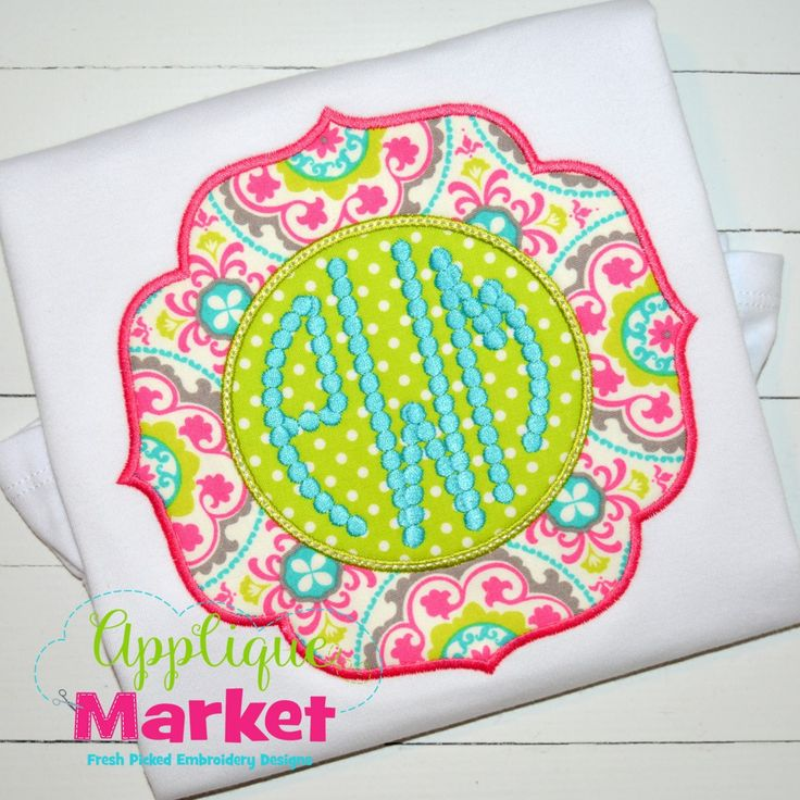 At Applique Market, we have the frames for your Applique project. Accent your designs with this Clara Monogram Frame.