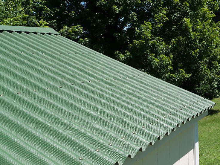 Green ONDURA Roof On Shed.ondulineusa