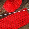 Je vous avais dit que Mémé m'avait appris un nouveau point de tricot! Et bien le voici, le voilà, le point ajouré! J'ai voulu faire une...