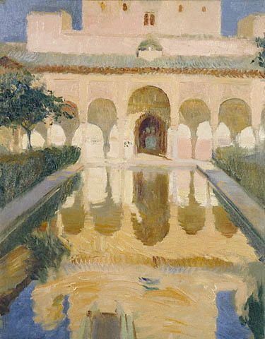 """""""Hall of the Ambassadors"""" by Joaquin Sorolla. One of my favorite paintings of the Alhambra in Granada, one of my favorite places."""