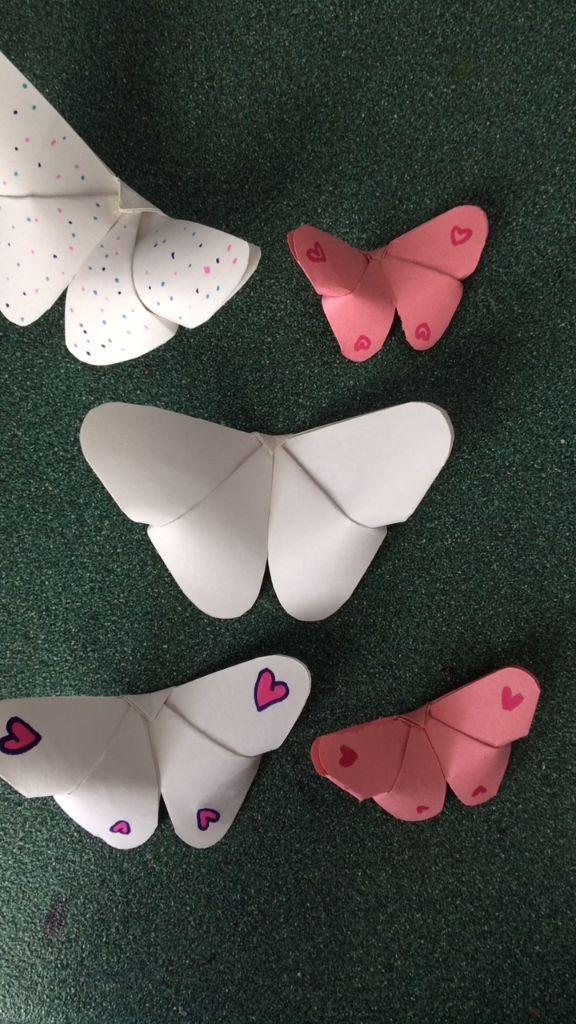 Schmetterling falten