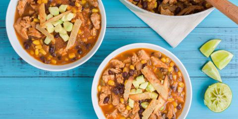 Best Carnitas Enchilada Soup Recipe - How to Make Pork Enchilada Soup  Good, easy if you already have the pork made up!  Would be good with Chicken too.