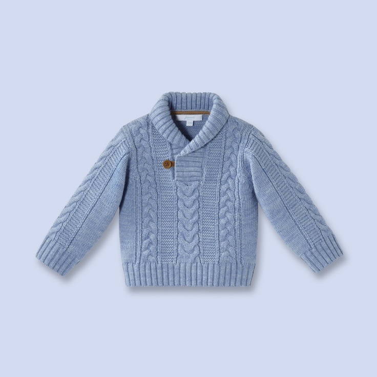 Shawl Collar Wool Sweater For Baby Boy For My Grandson