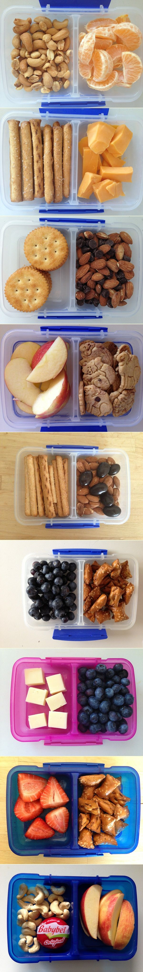Grab and go snack ideas! (For D2 at preschool. Finally a list of snack ideas that aren't cutesy food art in a bento box!!)