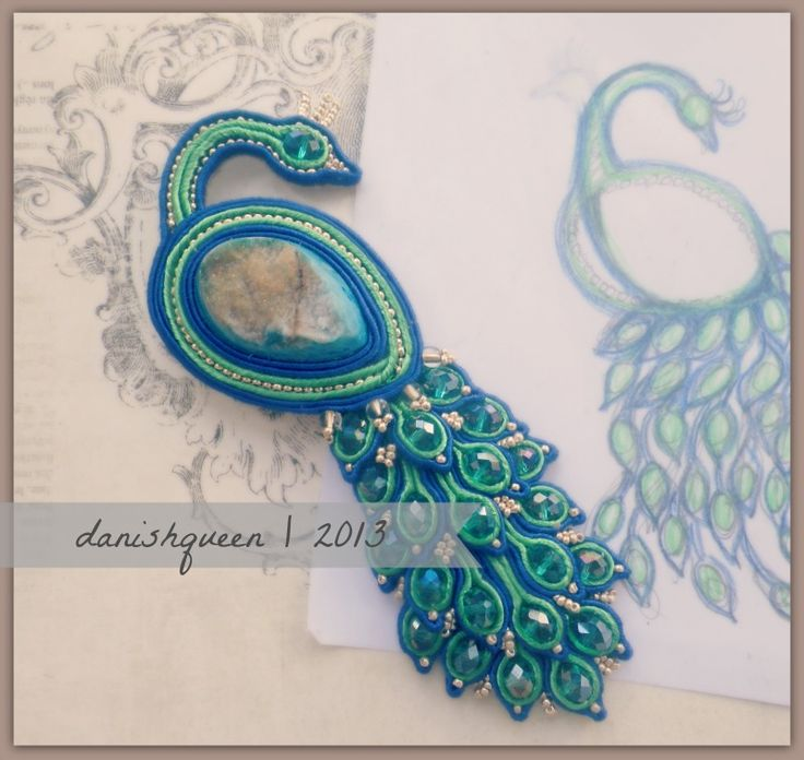 beauty peacock soutache